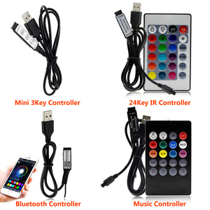 Image 2 - USB LED Strip 5050 RGB Flexible LED Light DC5V RGB Color Changeable TV Background Lighting.