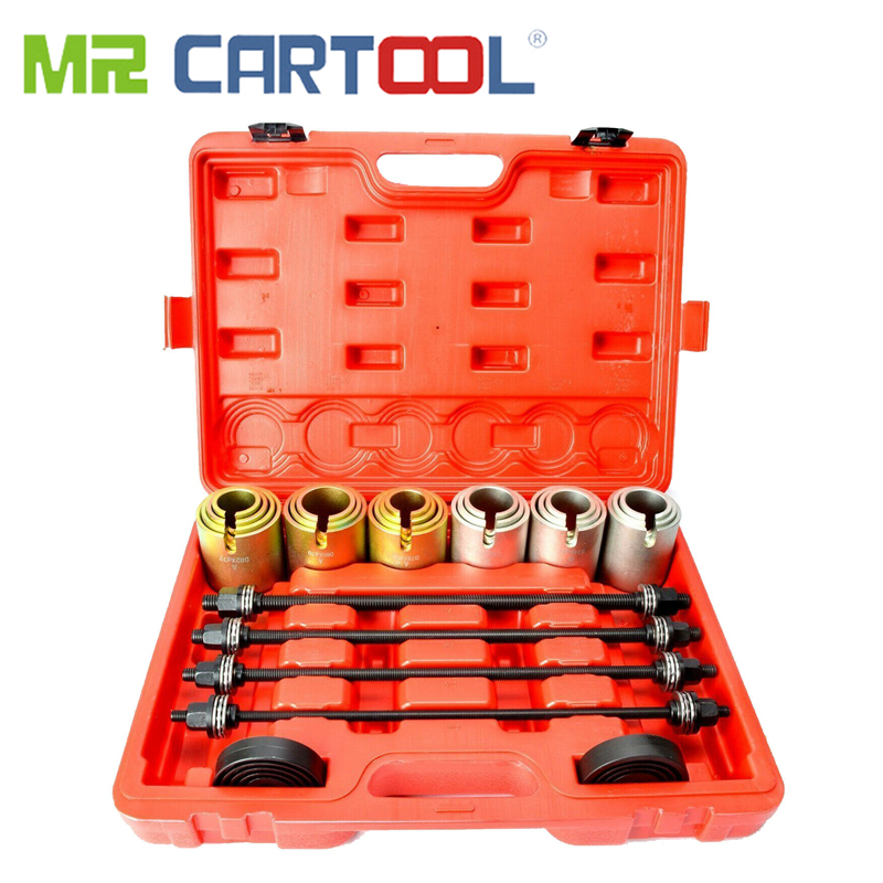 MR CARTOOL 26Pcs Auto Universal Bush Bearing Removal Insertion Tools Set Press And Pull Sleeve Kit Car Hand-held Removal Tool