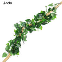 10 Pcs Artificial Hanging Plants leaf 230cm Ivy Rattan Leaves Plastic Jungle Party Wall Plant Turf Branches for Decoration
