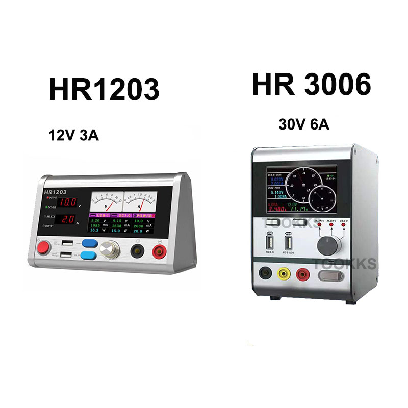 HR1203 Intelligent Voltage Regulator Current Power Meter 3A Current Oscilloscope For IPhone Samsung Mobile Phone Repair