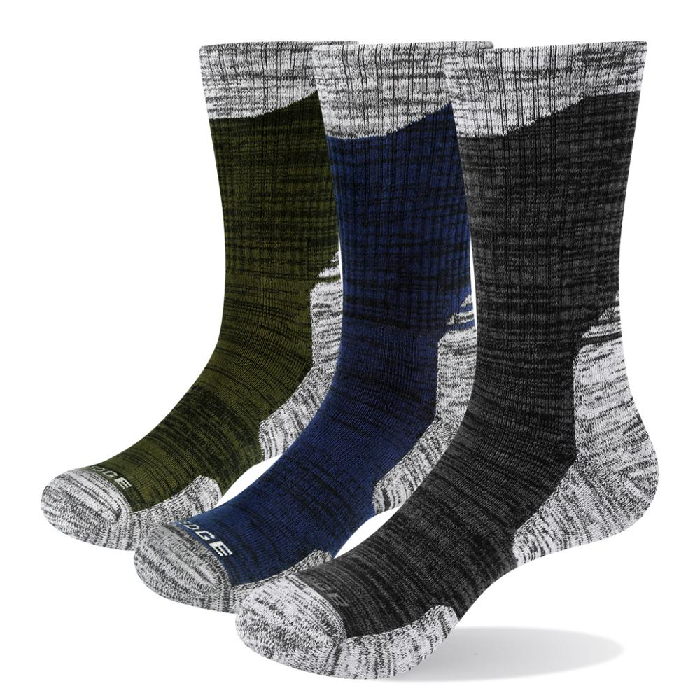 YUEDGE 3 Pairs Men's Classic Casual High-quality Breathable Cotton Comfortable Casual Crew Dress Socks