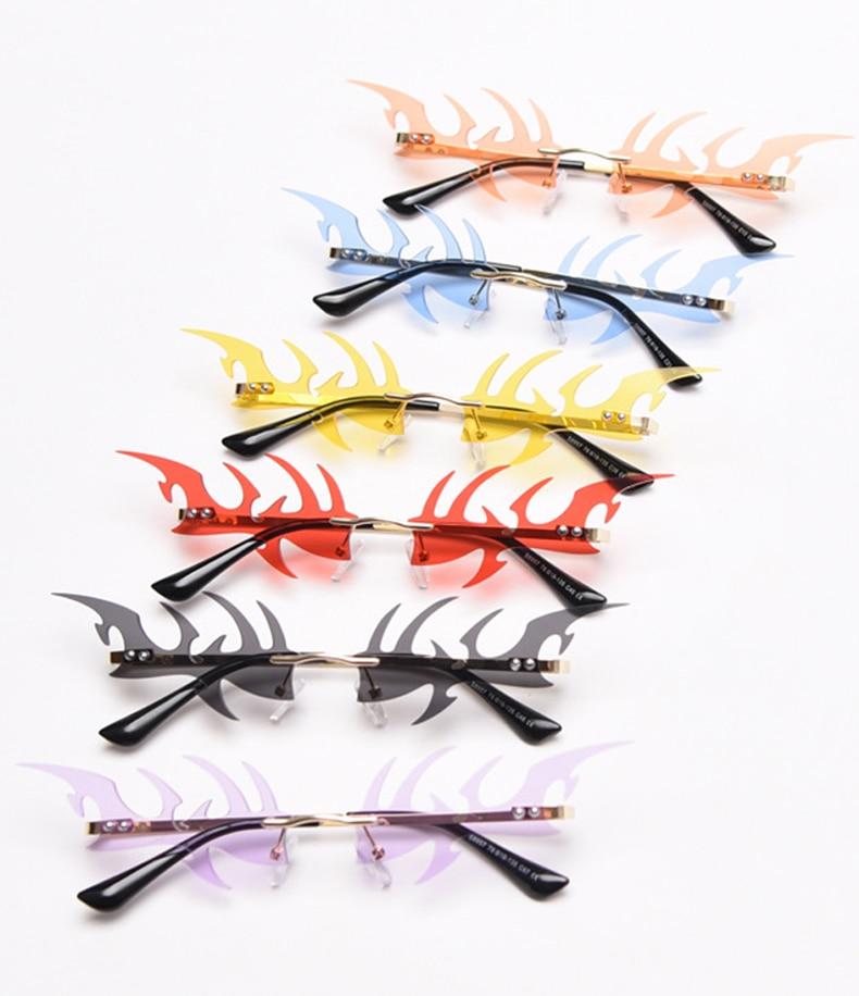 He8a6b23fde1645b9b9215241f60389030 Óculos sem aro fishbone forma feminino óculos de sol claro oceano lente óculos de sol do olho de gato vintage máscaras uv400
