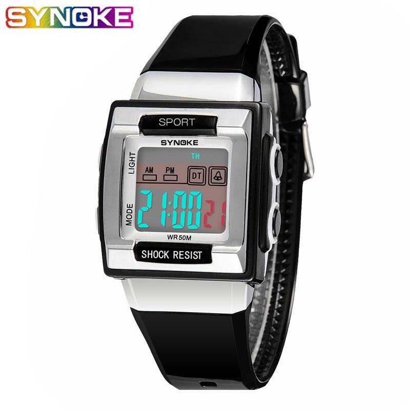 SYNOKE Children Kids Digital Watches LED Multifunctional 5Bars Waterproof Wristwatches Alarm Boys Girls Student Clock Gift