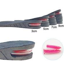 3-9см Высота увеличения стельки с воздушной подушкой лифт регулируемый обрабатывать каблука вставить выше поддержки абсорбент коврик для ног