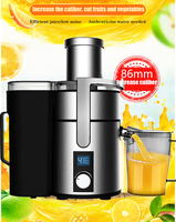 commercial 1200W powerful Stainless Steel Juicers LCD Display 220V Electric Juice Extractor Fruit Vegetable Drinking Machine