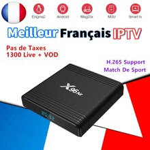 X96 Air TV Box Francia IPTV Android 9.0 con abbonamento canali IPTV Francese Spagna Il Portogallo Arabo IPTV tv box 1300 dal vivo + Vod(China)