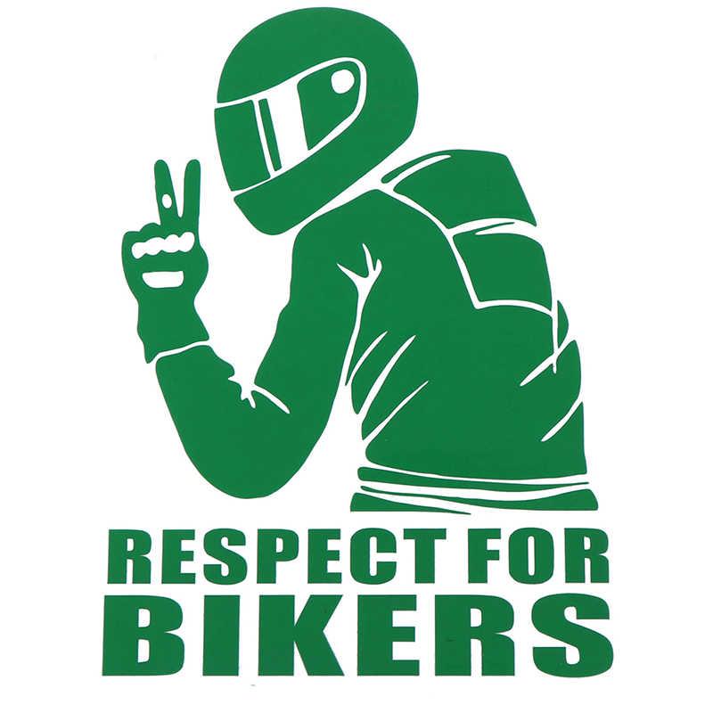 Gran oferta pegatinas de coche motocicleta decoración de estilo de coche respeto a los ciclistas pegatina en vinilo de coche divertido pegatinas y calcomanías 3D