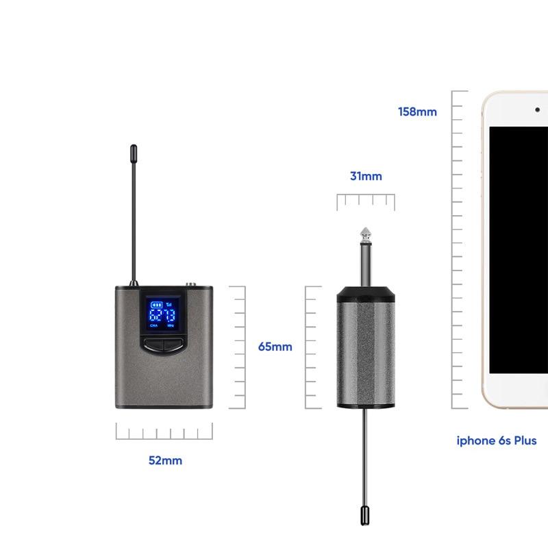 UHF Беспроводная микрофонная система мини гарнитура микрофон с корпусом портативный приемник и мини приемник для обучения лекции речи микро