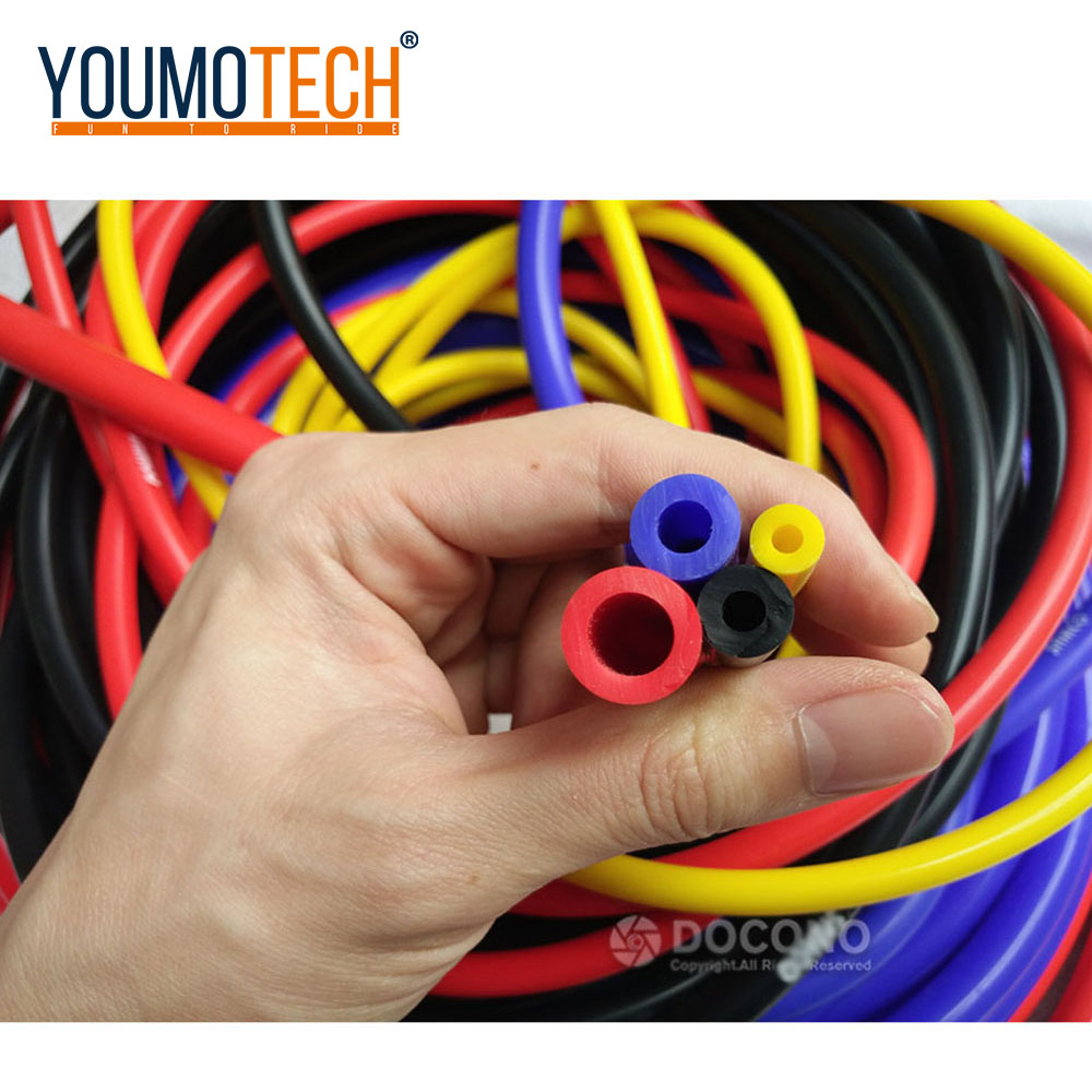 NEW Universal 5 Meter 3mm/4mm/6mm/8mm Silicone Vacuum Tube Hose Silicon Tubing Blue Red Yellow Car Accessories