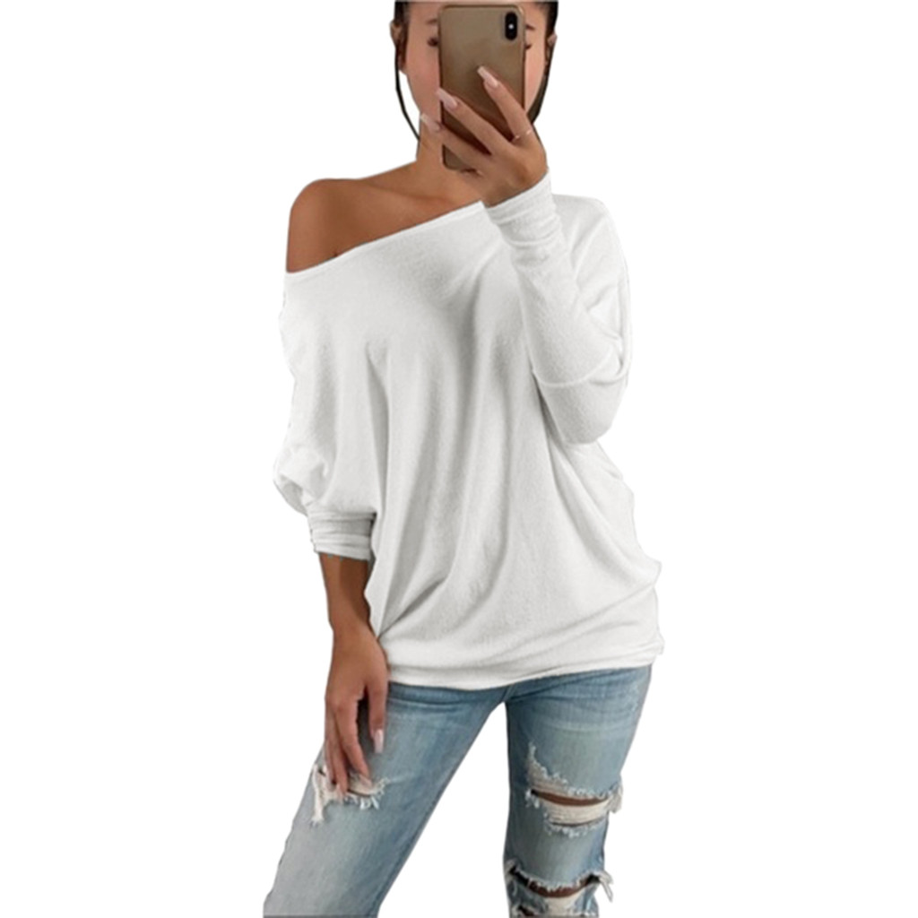 women t shirt autumn and winter long sleeves Fashion Autumn Women Casual Solid Full Sleeve O Neck Street Style Loose in T Shirts from Women 39 s Clothing