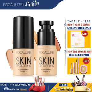 Image 2 - FOCALLURE Base Face Liquid Foundation Cream Full Coverage Concealer Oil control Easy to Wear Soft Face Makeup Foundation