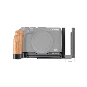 Image 3 - SmallRig M6 L Bracket Plate With Wooden Handgrip for Canon EOS M6 Mark II Arca Swiss Standard L Plate Mounting Plate  2516