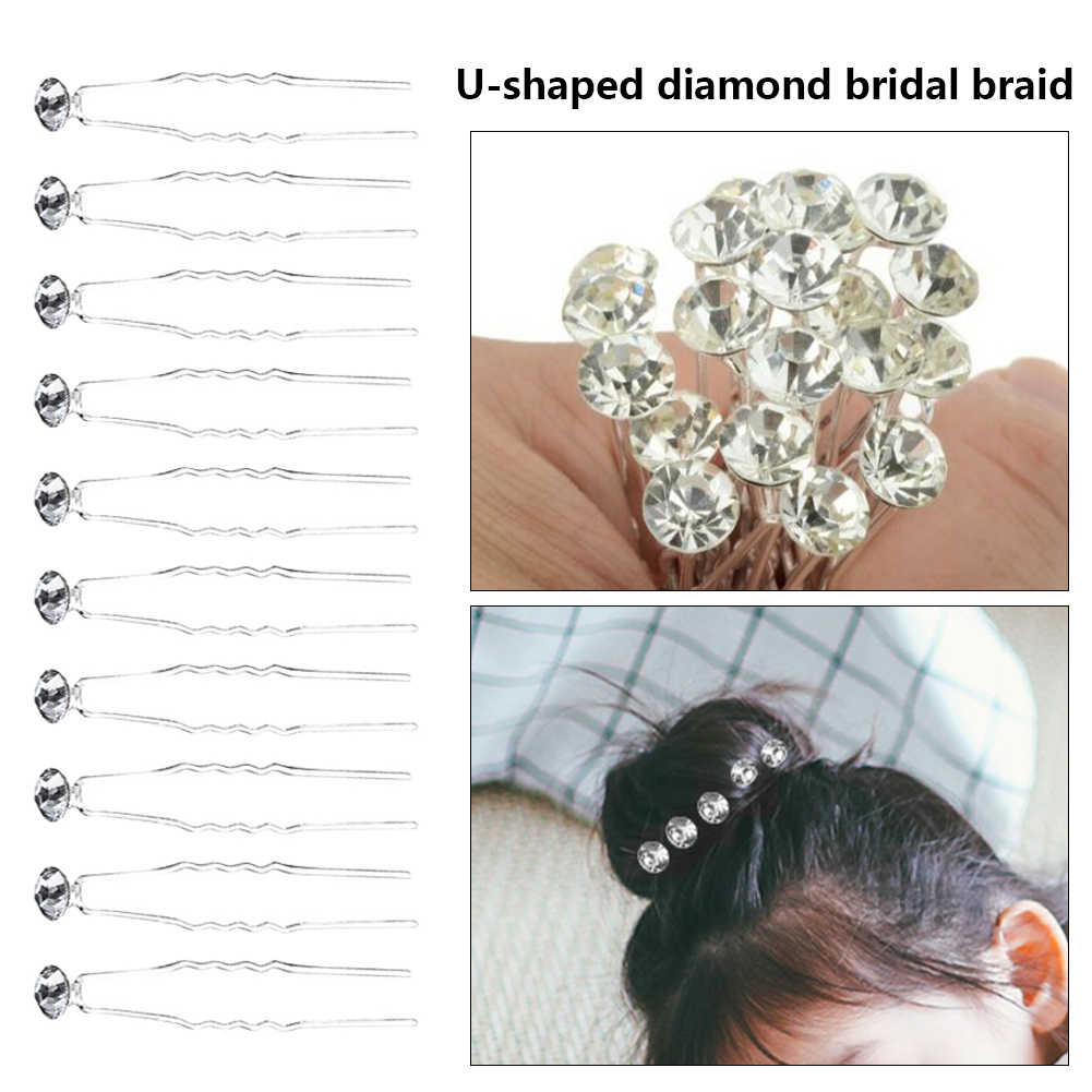 Anggun Pernikahan Pertunangan Wanita Kristal Diamanted Rose Bunga Rambut Pin Rhinestone Rambut Klip Aksesori Perhiasan Pesta Hiasan Kepala