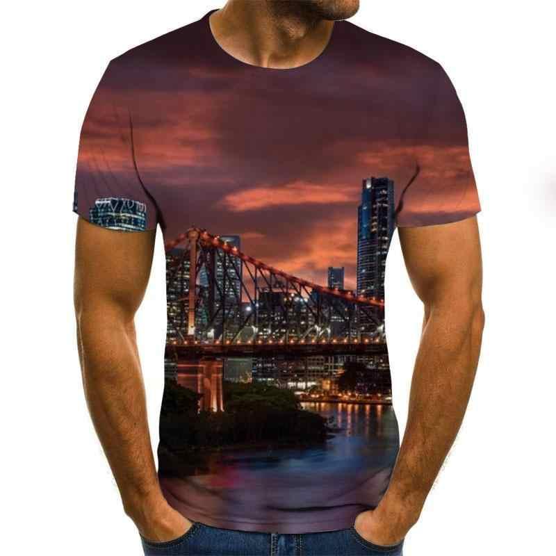 2020 marka Новинка yksek kalite scak sat футболка erkek ksa kollu serin renkli erkek tirt marka yaz erkek 3D футболка