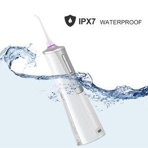 Image 4 - Электрический ирригатор для полости рта USB Перезаряжаемый водный Флоссер переносная зубная вода водный бак водостойкий очиститель зубов
