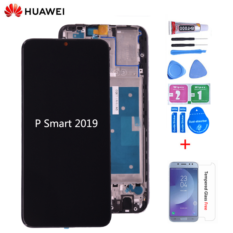 Original For Huawei P Smart 2019 LCD Display With Touch Screen Digitizer Assembly With Frame For P Smart 2019 Repair Part