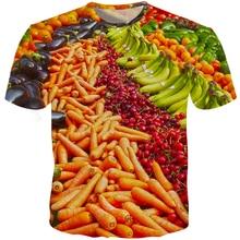New Design 2019 Vegetables Men 3D T Shirts Slim Fit Carrot Banana Casual T Shirts Custom T Shirts Men Harajuku Plus Size S-5XL 2017 new design men s 100