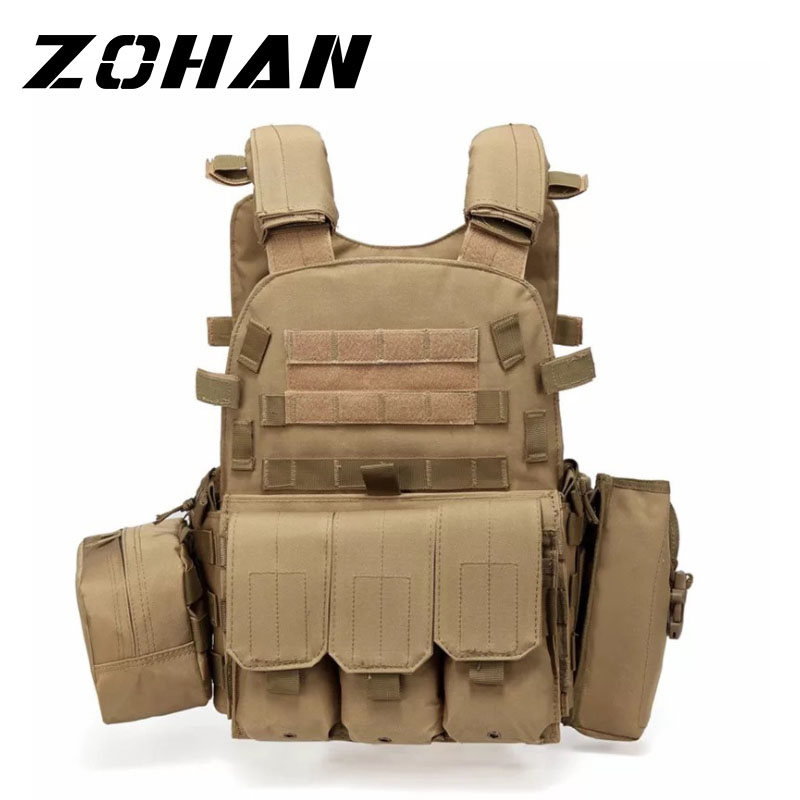 Outlife USMC Airsoft Military Tactical Vest Molle Combat Assault Plate Carrier Tactical Vest 3 Colors CS Outdoor Clothing