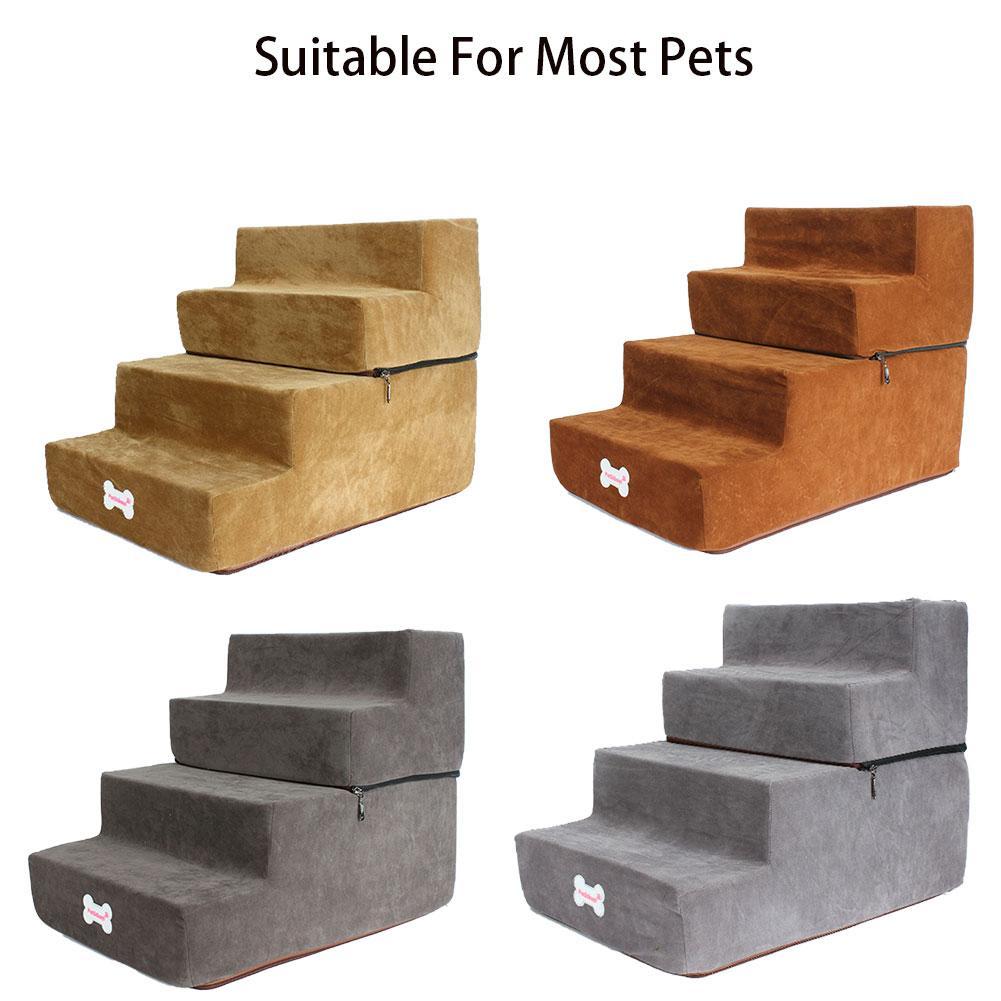 4 ступеньки для собак лестница для кошек дышащая противоскользящая Водонепроницаемая лестница для домашних животных Подушка для кровати к