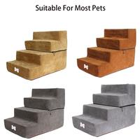 4 Steps Dog Stairs Cat Staircase Breathable Anti slip Waterproof Pet Climbing Ladder Bed Cushion Mat Dogs Puppy Cat Dropshipping