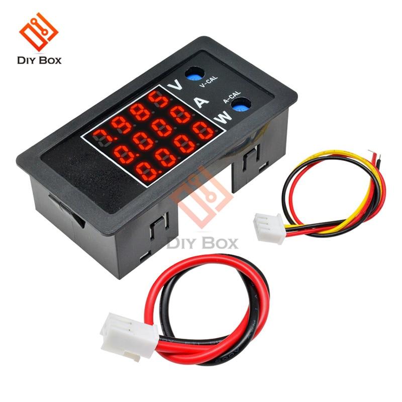 4 Digital High Precision Voltmeter Ammeter Wattmeter DC 100V 10A 1000W LCD Display Voltage Current Power Meter Tester Detector