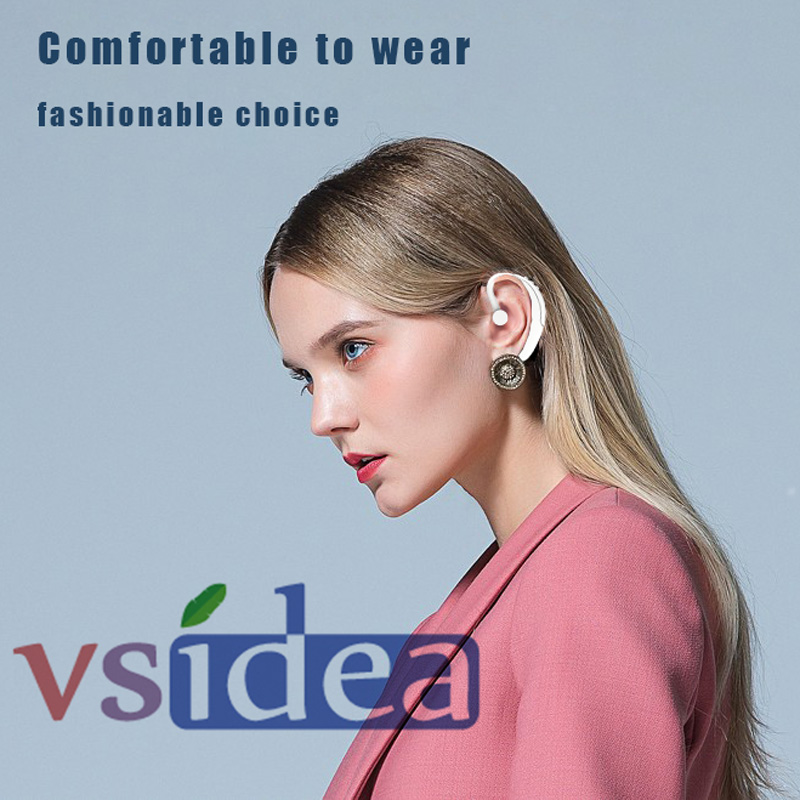 Vsidea Business Bluetooth Sports Headphone Driver Handsfree ear hook Earphone with Mic Noise Cancelling For iPhone ALL PHONE