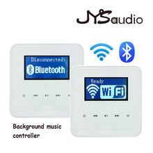 Wi-fi conexão bluetooth mini amplificador casa leitor de música sistema onwall instalação inteligente parede amplificador sem fio bt ampères.