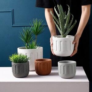 Image 2 - Круглая силиконовая форма для цветочного горшка, креативная форма для бетонных горшечных растений