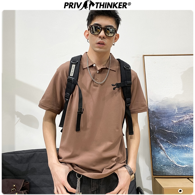 Privathinker Men's Japan Casual Polo Tshirt Male Short Sleeve T-Shirts Men Solid Oversize Polo T-shirts Tee Clothes 2020 Summer