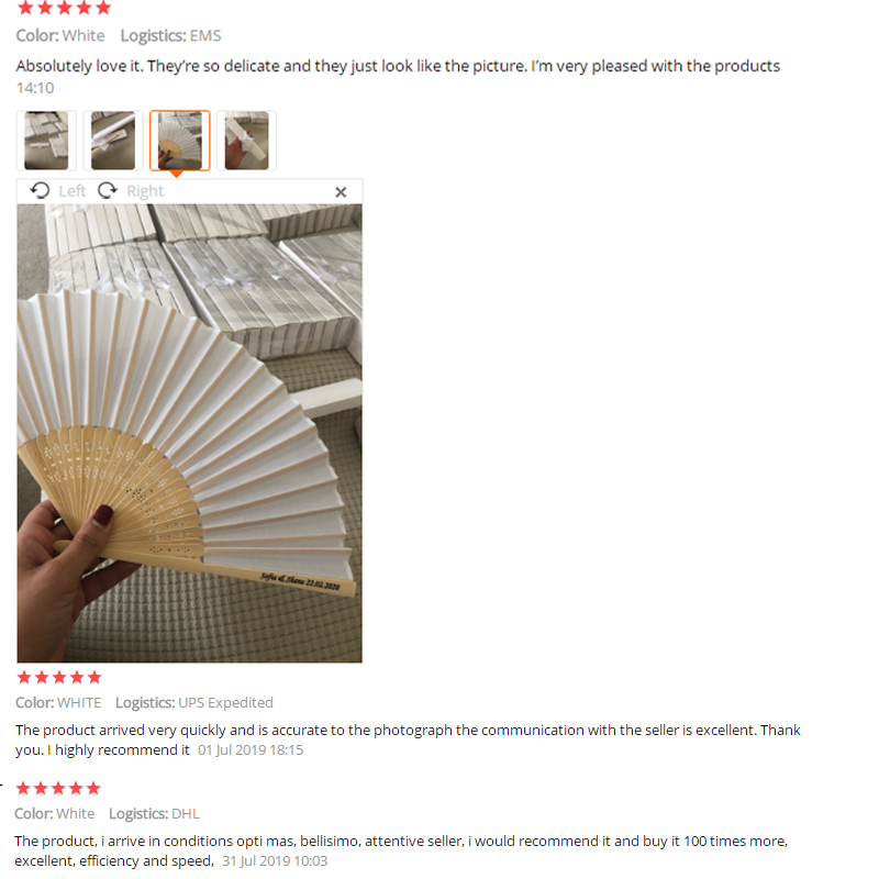 50pcs/lot Personalized Luxurious Silk Fold hand Fan in Elegant Laser-Cut Gift Box +Party Favors/wedding Gifts+printing