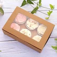 2/4/6 отверстие упаковочная коробка для торта muffin печенья