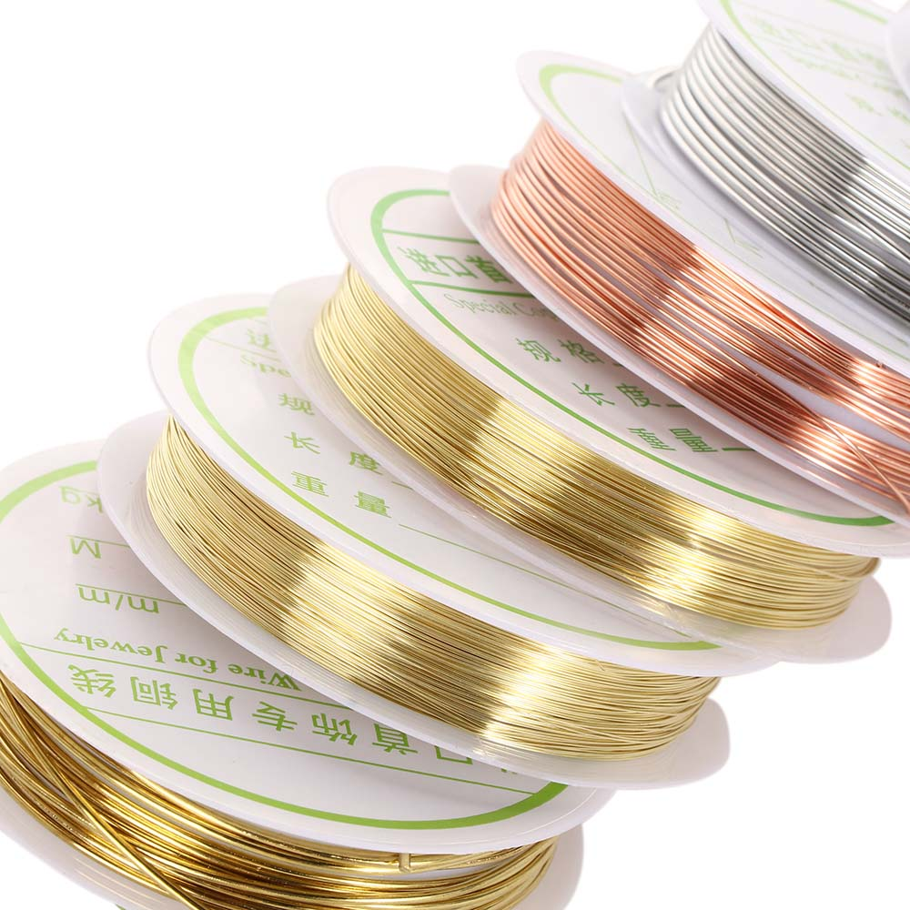 0.2/0.25/0.3/0.4/0.5/0.6/0.8/1mm Silver Gold Color Alloy Cord Beading Wire DIY Craft Making Jewelry Cord String Accessories