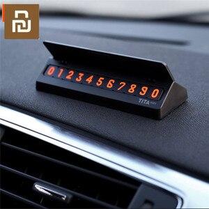 Image 1 - Bcase TITA çevirme tipi araba geçici park kartı telefon numarası kart plaka Mini araba dekorasyon için Mi yaşam
