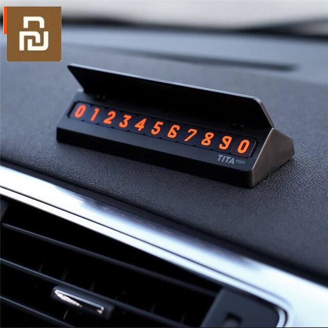 Bcase TITA çevirme tipi araba geçici park kartı telefon numarası kart plaka Mini araba dekorasyon için Mi yaşam