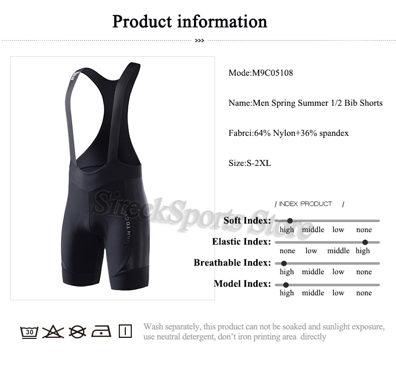 Santic Bike Bicycle Men Cycling Bib Shorts One-body Braces Pro Breathable Mesh Padded Road Racing Cycling Shorts Bicycle Pants