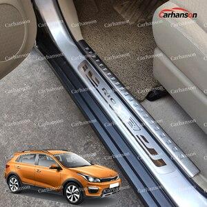 Image 1 - 자동차 스타일링 KIA RIO 3 4 x 라인 액세서리 스테인레스 스틸 도어 씰 트림 스커프 프로텍터 페달 x 라인 2015 2017 2018 2019