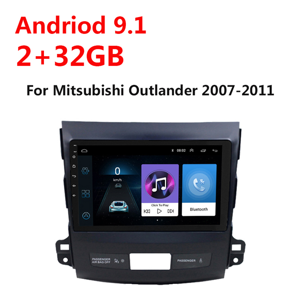 10.1 inch Android 9.1 2 Din Car Multimedia Stereo MP5 Player For <font><b>Mitsubishi</b></font> <font><b>Outlander</b></font> 2007 <font><b>2008</b></font>-2010 2011 Navigation GPS Radio image