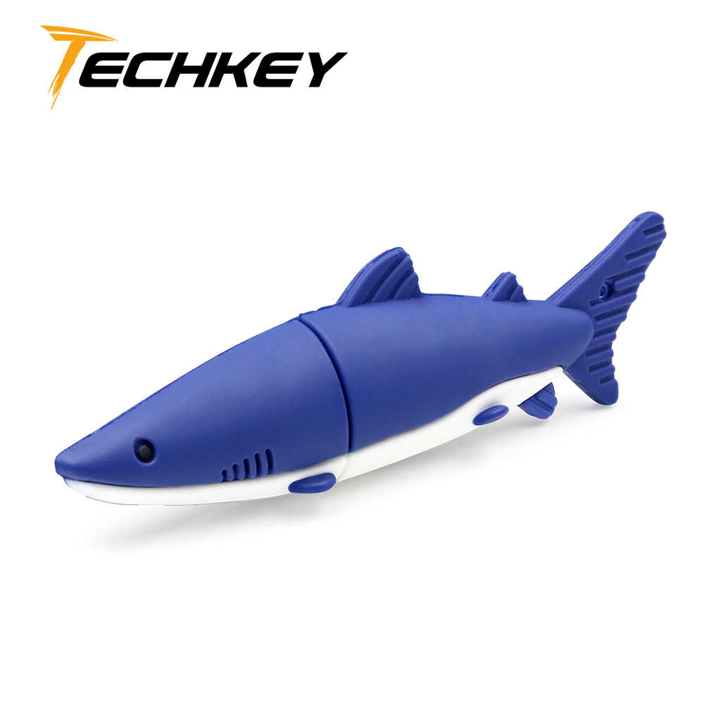 Nuovo usb flash drive флешка 32GB 64GB 128GB carino shark pendrive usb 2.0-bastone Stich 4GB 8GB 16GB di memoria bastone di bel regalo di trasporto libero