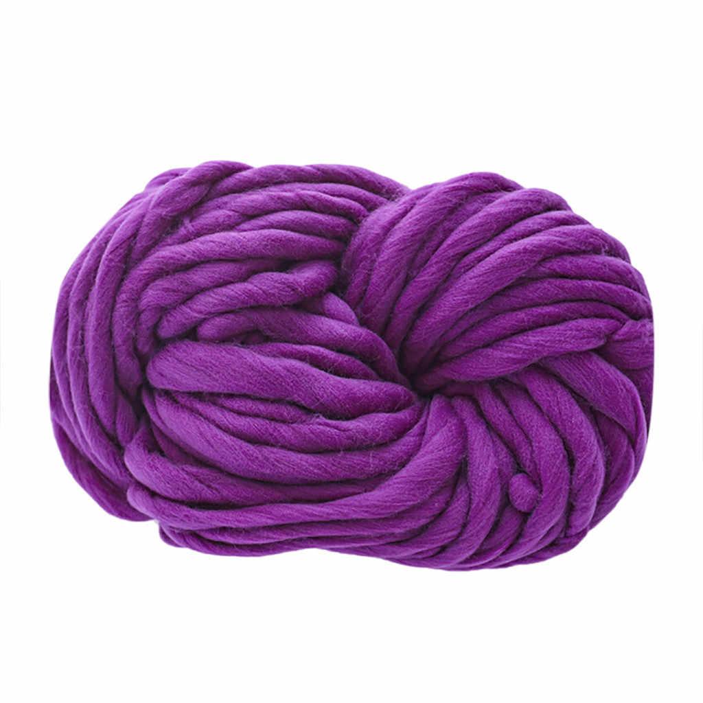 270G Super Merajut Selimut Tebal Benang Lembut Tebal Lengan Keliling Showroom/Bulky Merino Wol Benang DIY Crochet Benang Merajut Selimut topi Syal