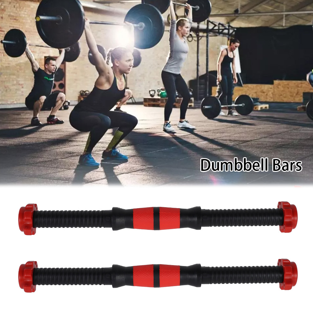 40cm Dumbbell Rod Solid Steel Weight Set Barbell Lifting Dumbbell Bar With Connector Gym Home Fitness Barbells Bars Workout