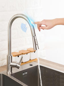 Kitchen-Faucets Taps Smart-Sensor Pull-Out GAPPO Stainless-Steel Sink