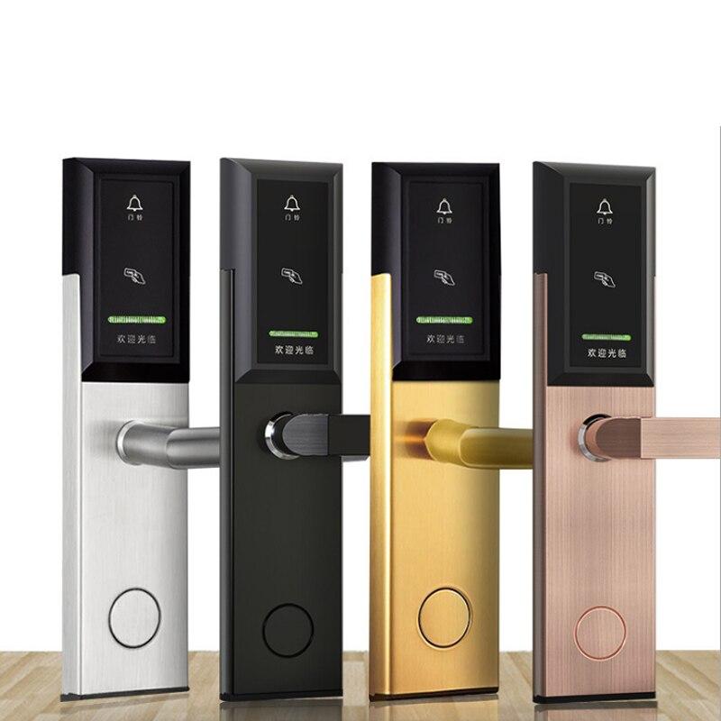 Poignée de porte électrique couleur raréverrouillage RFID pour hôtel boutique bureau école maison porte matériel bricolage ZS37 aa
