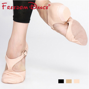 Image 3 - Genuine Leather Stretch Ballet Dance Shoe For Women Jazz Dancing Shoe Teacherss Dance Sandals Girls Pointe Shoe