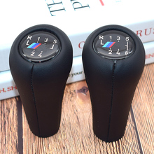 цена на Real Leather Gear handle For BMW E46 accessories E60 1 3 5 6 Series E36 E30 E92 E91 E90 X1 X3 X5 With M logo gear shift knob