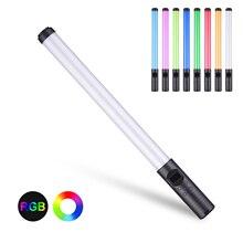 כף יד RGB צבעוני אור שרביט 20W LED צילום אור דו צבע Dimmable שלט רחוק עבור לחיות זרם סטודיו צילום