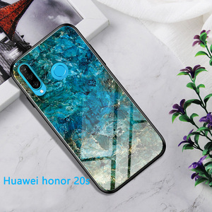 Image 2 - Phone Case for Huawei Honor 20 Pro Case Honor 20S 20 s Cover Marble Smooth Tempered Glass Cases for Huawei Honor 20s funda 20pro