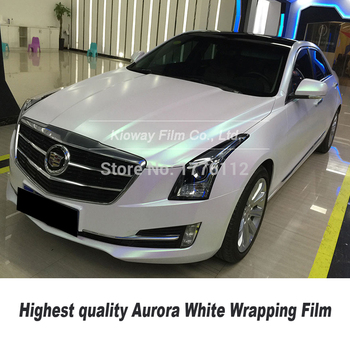 Highest quality High-end Self adhesive matte  Aurora white wrapping  foil  for High end car with Bubble free