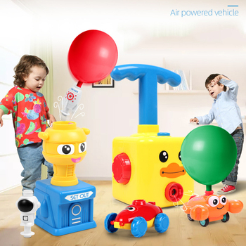 NEW Power Balloon Launch Tower Toy Puzzle Fun Education Inertia Air Power Balloon Car  Science Experimen Toy for Children Gift 2