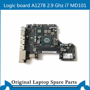 Original logic board for Macbook Pro Uniboby A1278  Motherboard  MD101 MD102 2.5Ghz i5  2.9Ghz i7 2011-2012