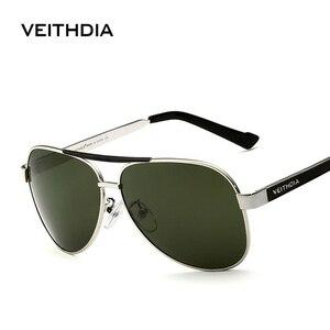 Image 1 - OCCHIALI DA SOLE VEITHDIA Con Il Caso Originale Occhiali Da Sole Polarizzati Uomini Del Progettista di Marca Occhiali Da Sole UV 400 Lenti gafas oculos de sol masculino 3152